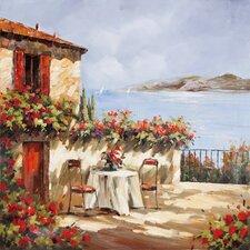 Revealed Artwork Villa Del Mar Original Painting on Wrapped Canvas