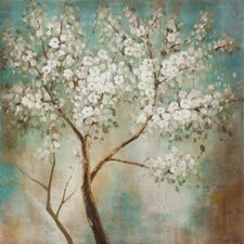 Revealed Artwork Tree In Bloom Original Painting on Wrapped Canvas