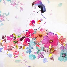 Revealed Artwork Dressed In Flowers I Painting Print on Wrapped Canvas