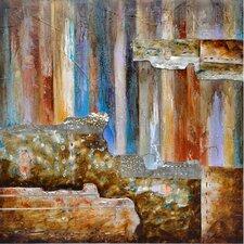 Revealed Artwork Burnished II Original Painting on Wrapped Canvas