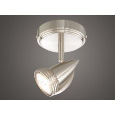 Single Spot Light in Satin Nickel