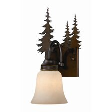 Yosemite 1 Light Wall Sconce with Glass Shade