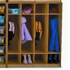1 Tier 4-Section Wall Storage Coat Locker