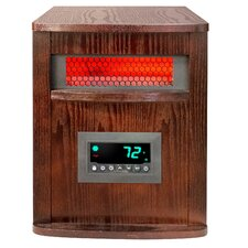 Life Pro Series 1,500 Watt Portable Electric Infrared Cabinet Heater with Remote
