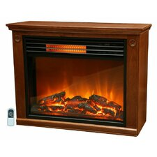 Life Pro Easy Set Infrared Fireplace w/ All Wood Mantle and Remote