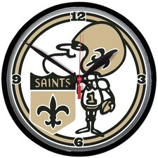 "New Orleans Saints 12.75"" Wall Clock"