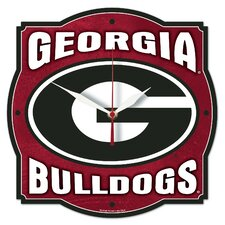 NCAA University of Georgia High Def Plaque Wall Clock