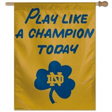 "Notre Dame ""Play Like a Champion Today"" Flag"