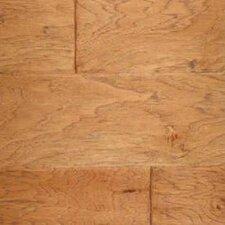 Gevaldo Random Width Engineered Hickory Hardwood Flooring in Hearth