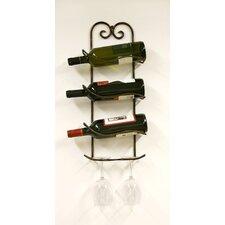 Xiafeng 3 Bottle Wall Mounted Wine Rack