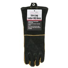 Long Leather Barbecue Gloves