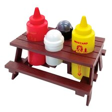 5 Piece Picnic Table Condiment Set