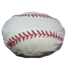 Round Baseball Dog Pillow