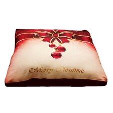 Christmas Present Dog Pillow with Removable Cover