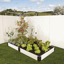 Classic White Rectangular Raised Garden