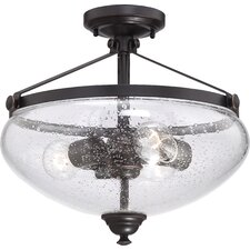 Laurel 3 Light Semi Flush Mount