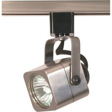 1 Light MR16 120V Square Track Head in Brushed Nickel