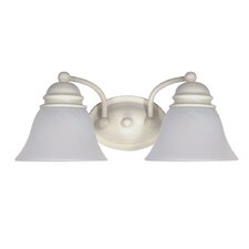 Empire Vanity Light in Textured White