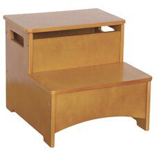 New Mission 2-Step Manufactured Wood Storage Step Stool with 200 lb. Load Capacity