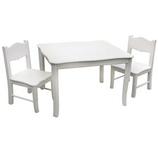 Classic Kids 3 Piece Table & Chair Set