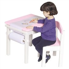 Pink Art Table & Chair Set