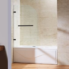 Orion Clear Curved Bathtub Door