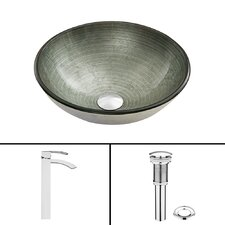 Simply Glass Vessel Sink and Duris Faucet Set