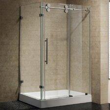 Sliding Door Frameless Shower Enclosure with Base