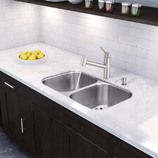 Branson Steel Pull-Out Spray Kitchen Faucet