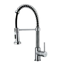 1 Handle Single Hole Pull Out Spiral Kitchen Sink Faucet