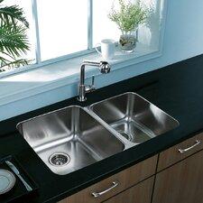 Double Bowl Undermount Kitchen Sink