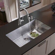 """32"""" x 19"""" Undermount Kitchen Sink Set"""