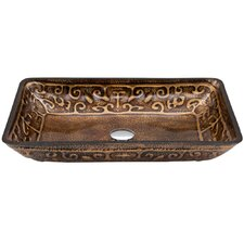 Golden Greek Glass Vessel Sink
