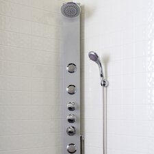 Shower Massage Panel with Rain Shower Head and Multi-Function Hand Held Shower