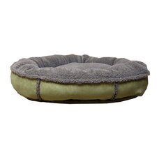 Faux Suede Round Comfy Cup® Dog Bed in Sage
