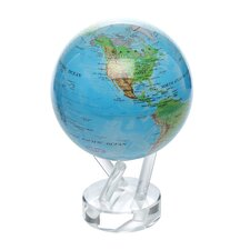 """4.5"""" Blue Oceans with Relief Map Globe"""