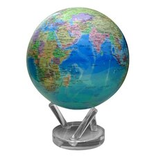 """8.5"""" Blue Oceans with Political Map Globe"""