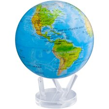 """8.5"""" Blue Oceans with Relief Map Globe"""