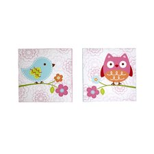 Love Bird 2 Piece Canvas Art Set