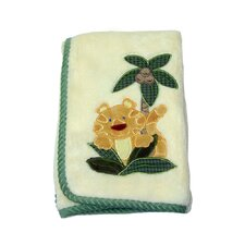 Jungle Babies Coral with Applique Blanket