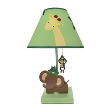 "Jungle Babies 16"" H Table Lamp with Empire Shade"