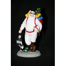 """Santa's Speedway"" Racing Santa Figurine"