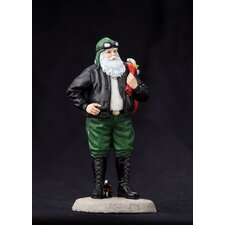 """Santa's Ride"" Santa with Motorcycle Figurine"
