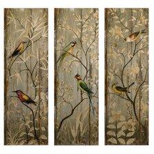 Calima Bird Decor 3 Piece Original Painting Plaque Set