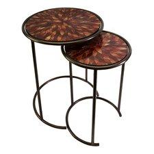 Mashaka 2 Piece Nesting Table Set
