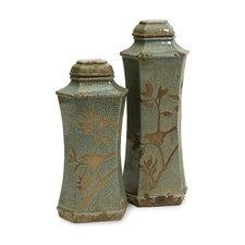 2 Piece Marsh Lidded Decorative Bottle Set