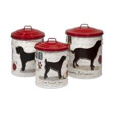 3-Piece Dog Food Storage Jar Set