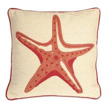 Careen Starfish Cotton Throw Pillow