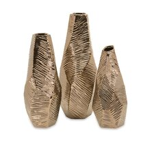 3 Piece Geometric Vases Set