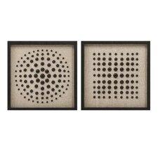 Hemshall Modern Artwork 2 Piece Graphic Art Set